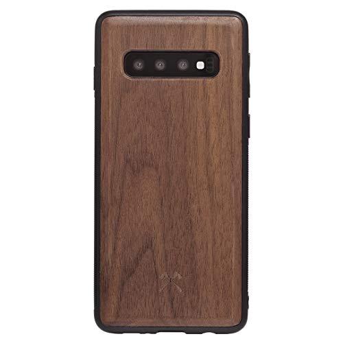 Woodcessories - Hülle Kompatibel mit Samsung Galaxy S10 Aus Echtem Holz - EcoBump Hülle (Walnuss)