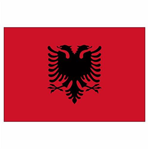 2er Set Albanien Albanische Albania Kosovo Adler Flagge Fahne Aufkleber Vinyl Stickers
