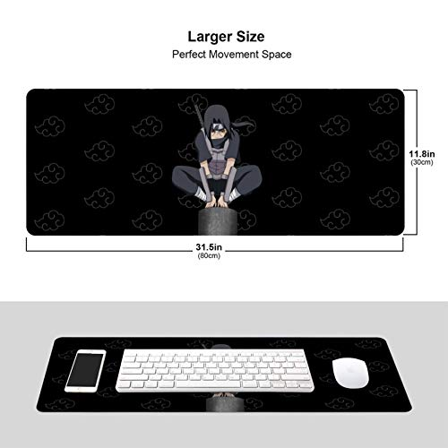 Anime Naruto Itachi Large Gaming Mouse Pad Extended Mousepad XL Keyboard Mat 11.8in X 31.5in Photo #2