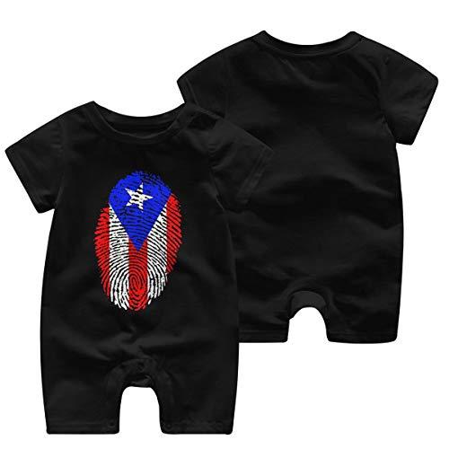 Love Puerto Rico Puerto Rican Flag Kids Girls Short Sleeve Ruffles Shirt T-Shirt for 2-6 Toddlers