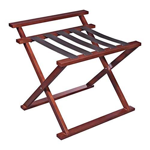 CENPEN Portaequipajes para habitación de hotel, plegable, de madera maciza, para equipaje, 75 x 72,5 x 72 cm