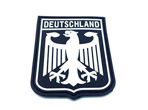 Patch Nation Deutschland Königlichem Wappen Kaiseradler Schwarz-Flaggen PVC Klett Emblem...