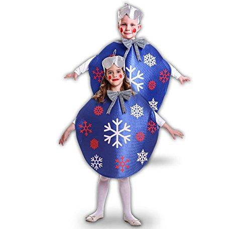 Disfraz de Bola De Navidad Azul para niños