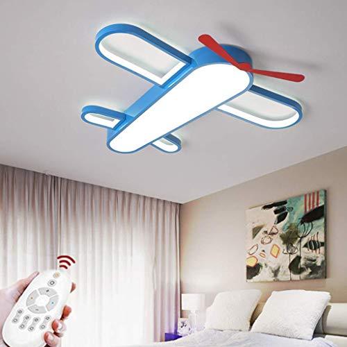 SKSNB Lámpara de Techo Lámpara de Dormitorio de avión Lámpara de bebé LED Lámpara de Techo de guardería Lámpara de bebé Lámpara de niño Moderna Lámpara de atenuación de Control Remoto [C