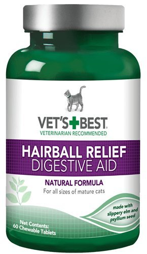 Vet's Best Hairball Relief Digestive Aid Cat Supplements, 60 count