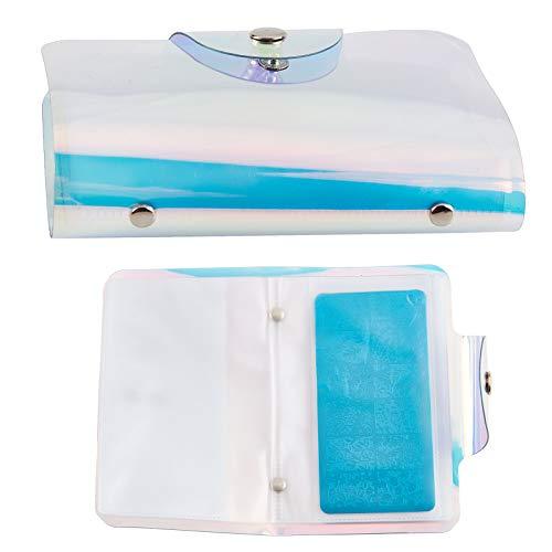 NICENEEDED 20 Slots Nail Art Stamp Plate Stamping Plates Holder Storage Bag Cases Stamp Bag Organizer Reusable Nail Plate Nail Art Image Holder Tool for Nail Art DIY Tool