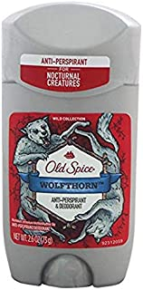 Old Spice Wild Collection Wolfthorn Scent Men's Invisible Solid Antiperspirant Deodorant 2.6 Ounce (Pack of 4)