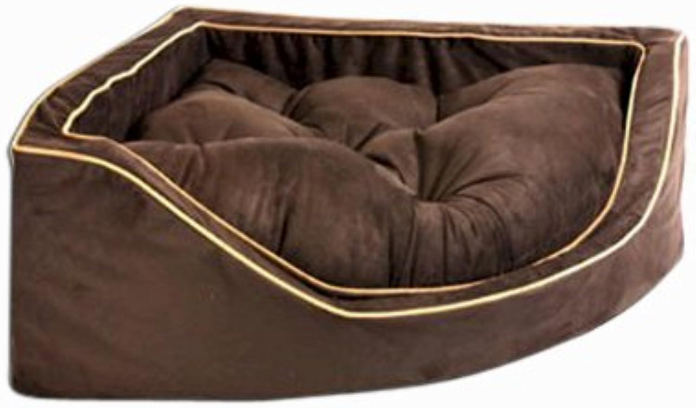 Snoozer 23087 Small Luxury Corner Pet Bed, Black /Herringdon