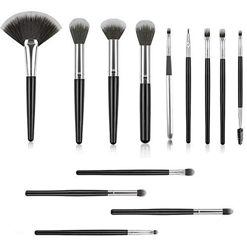 Make Up PinselSet mit Tasche 13 Stück Professionelles Kosmetik Schminkpinsel Foundation Augen Lippen Erröten Lidschatten Blending Pinselset
