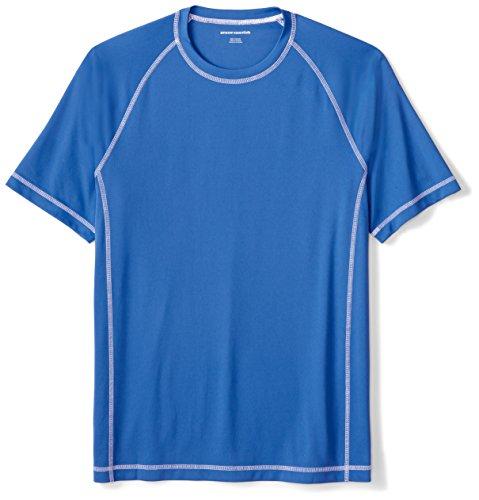 Amazon Essentials Men's Short-Sleeve Loose-Fit Quick-Dry UPF 50 Swim Tee, Royal Blue, Medium