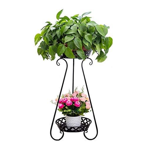 MingXinJia Estante para Plantas, Utilizado para Soporte de Flores en Interiores Y Exteriores, Soporte de Piso para Plantas, Marco de Estructura Doble de Hierro Forjado, Adecuado para Soporte de Esqui
