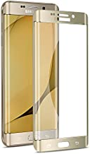 Galaxy S6 Edge Plus Screen Protector,Elebase 3D CurvedTempered Glass,Anti-Scratch,9H Hardness,Full Coverage,Clear Anti-Bubble Cover for Samsung Galaxy S6 Edge Plus(Not for S6 Edge)(Gold)