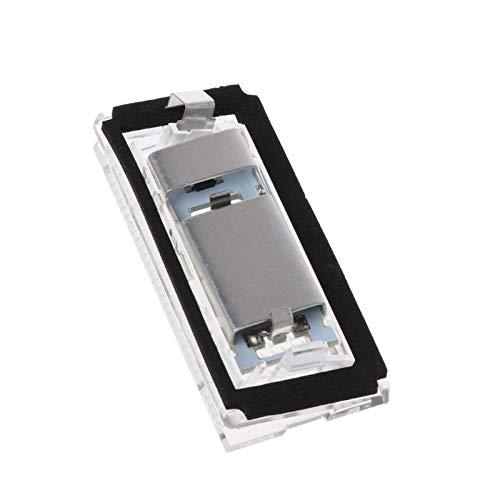 Luces de matrícula de Coche 2X 18 SMD LED Número de Placa de la Placa Luz de la lámpara de luz Free Compatible con Benz Smart Fortwo Coupe Convertible 450 451 W450 W453 100mA Impermeable