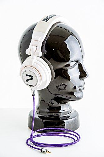 7even Headphone White/Purple DJ und Freizeit Kopfhörer weiß/Lila
