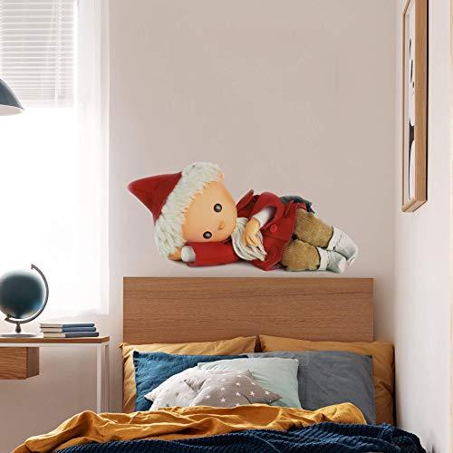 Kinderzimmer Wandtattoo rot Sandmann 3D Klebebilder für die Wand Tatoos für Kinder Jungen