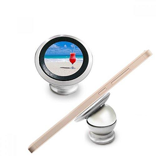 Ocean Sand Beach Watermeloen Sap Foto Magnetische Telefoon Mount Auto Dashboard Houder voor Mobiele Telefoon 360 Graden Rotatie Gift