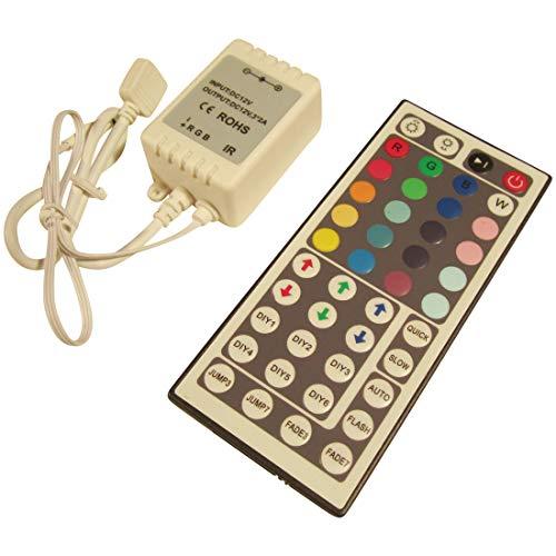 ASS XXL RGB LED Controller mit Fernbedienung 44Tasten bis72Watt für LED Streifen 12V