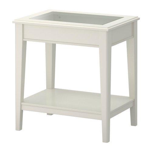 IKEA LIATORP -Beistelltisch Glas weiß - 57x40 cm