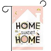 ホームガーデンフラッグ両面春夏庭の屋外装飾 12x18in,甘いホームバードフラワーハーブ