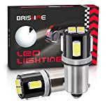 BRISHINE BA9S LED Bulbs 6000K Xenon White Extremely Bright 5630 Chipsets 53 57 293 BA9 64111 1891 1895 T4W LED Bulbs for Car Interior Dome Map Door Courtesy License Plate Lights(Pack of 2)