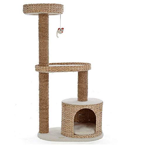 Lirui krabpaal klimkader de kleine kat de natuurlijke sisalkat springende kattenhuisboomgat huisdierspeelgoed kattenkrabber
