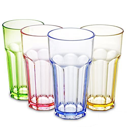 13oz Plastic Drinking Glasses Tumblers Cups Acrylic Glassware Kitchen Highball Water Juice Drinkware...