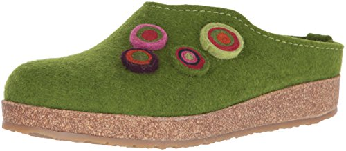 Haflinger Grizzly Kanon Pantoffeln Unisex-Erwachsene, Grün (Grasgrün 36), 43 EU