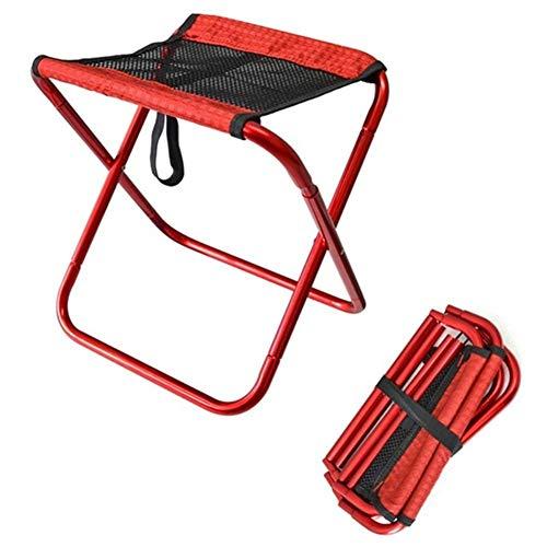 qidongshimaohuacegongqiyouxiangongsi angelausrüstung Tragbare Angeln Falten Camping Rucksack Ultraleicht Aluminium Oxford Tuch Picknick Angelstuhl Außen Klappstuhl (Color : Red)