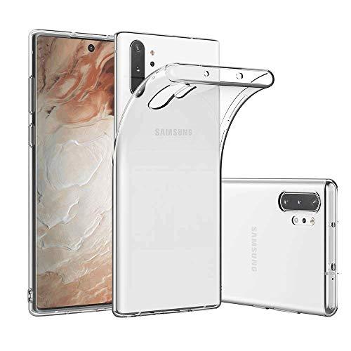 Samsung Galaxy Note 10 Plus 5G Hülle, Transparent Schutzhülle Superdünn Galaxy Note 10+ Handyhülle Durchsichtig Weiche Silikon Hülle TPU Rückschale Cover für Galaxy Note 10 Plus