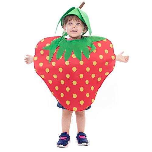 Boo! Inc. Sweet Strawberry Halloween Costume for Kids | Unisex (5-6)
