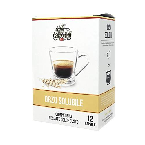 Orzo löslich – Box 48 Kapseln kompatibel Dolce Gusto – (4 x 12) Kaffee Holzkohle