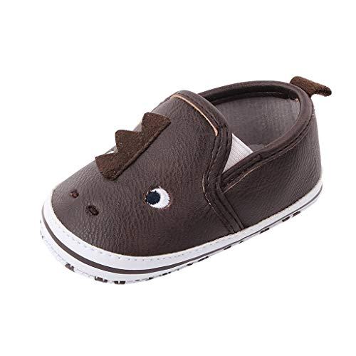 MIS1950s Baby Girls Boys Non Slip Rubber Sole Cartoon Walking Shoes for Infant Toddler (0-15 Months)