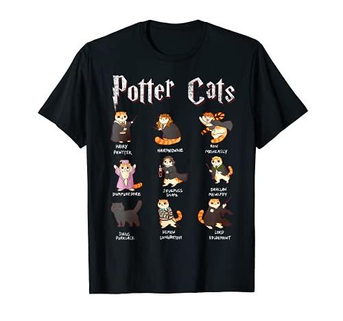 Harry Pawter - Camiseta de peluche con diseo de gatos Camiseta