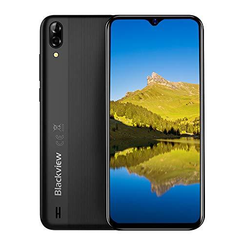 """Blackview A60 pro (2020) 4G Smartphones Handy Ohne Vertrag, Android 9.0 6,1\"""" Wassertropfen Bildschirm Dual-SIM 2,0 GHz 3GB + 16GB, 4080mAh Akku, Schwarz"""