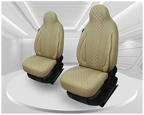 Coprisedili compatibili con Fiat Ducato tipo 250, anno di costruzione dal 2006, conducente e passeggero FB:PL405 (Caramel Beige)