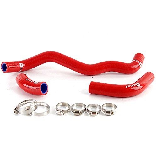 Silicone Coolant Radiator Hose Kit Clamps For SUZUKI DRZ400S DRZ400​SM 2002-2015 Red 3PCS