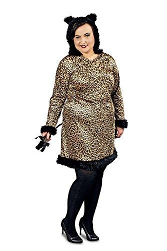 narrenkiste K31472308-44-46 - Disfraz de leopardo con capucha para mujer, tallas 44-46