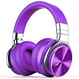 COWIN E7 PRO [Upgraded] Active Noise Cancelling Headphones Bluetooth Headphones with Microphone/Deep Bass Wireless Headphones Over Ear, 30 Hours Playtime for Travel/Work, Purple