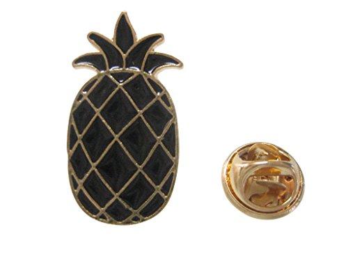 Kiola Designs Black Toned Pineapple Lapel Pin