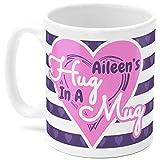 N\A Taza Aileen Aileen39s Abrazo en una Taza Nombre Regalo Morado y Rosa