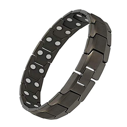 Magnetic Bracelets for Men's Arthritis Pain Relief Sleek Pure Titanium Recovery Healing Bracelet Health Care Bracelet,B