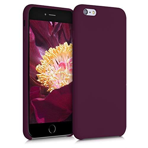 kwmobile Funda Compatible con Apple iPhone 6 Plus / 6S Plus - Carcasa de TPU para móvil - Cover Trasero en Violeta Burdeos