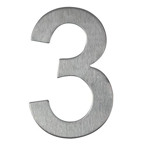 Hausnummer aus Edelstahl selbstklebend – Höhe 10 cm – Hausnummer – Hausnummer (3)