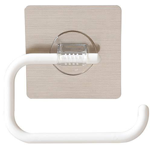 Gesh Portarrollos de papel higiénico de pared, sin perforación, para cuarto de baño, cocina, toalla, paquete de plástico