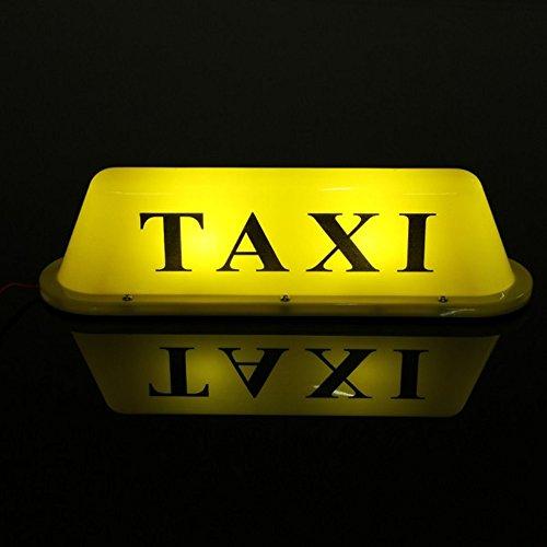 MFPower Taxi-Schild, LED-Lampe, wasserdicht, magnetisch, 12 V, Polyvinylchlorid (PVC), Gelb