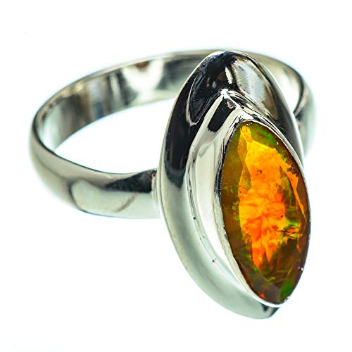 Ana Silver Co Ammolite Ring Size N 1/2 (925 Sterling Silver)
