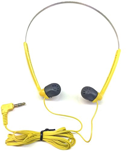Sony Sports MDR-A17G Stereo Headphones Made in Japan Earphones in Ear Yellow