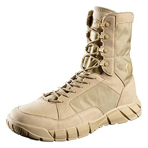 Chaussures à lacets respirant pour hommes, chaussures de randonnée, bottes de formation tactiques, chasse en plein air, alpinisme, balle à oeufs avec fusil à air, imperméable et portable (43 EU, S)