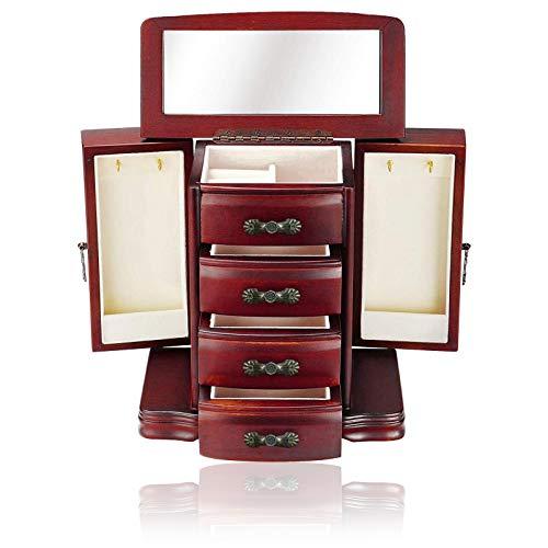 litulituhallo Caja de joyería de madera maciza