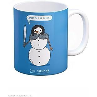 Funny 'Christmas Is Coming Jon Snowman' GOT Boxed Mug